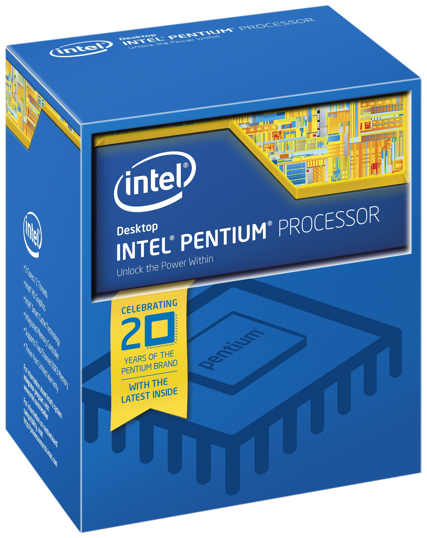 Intel Pentium ® ® Processor G4400 (3M Cache, 3.30 GHz) 3.3GHz 3MB Smart Cache Box processor