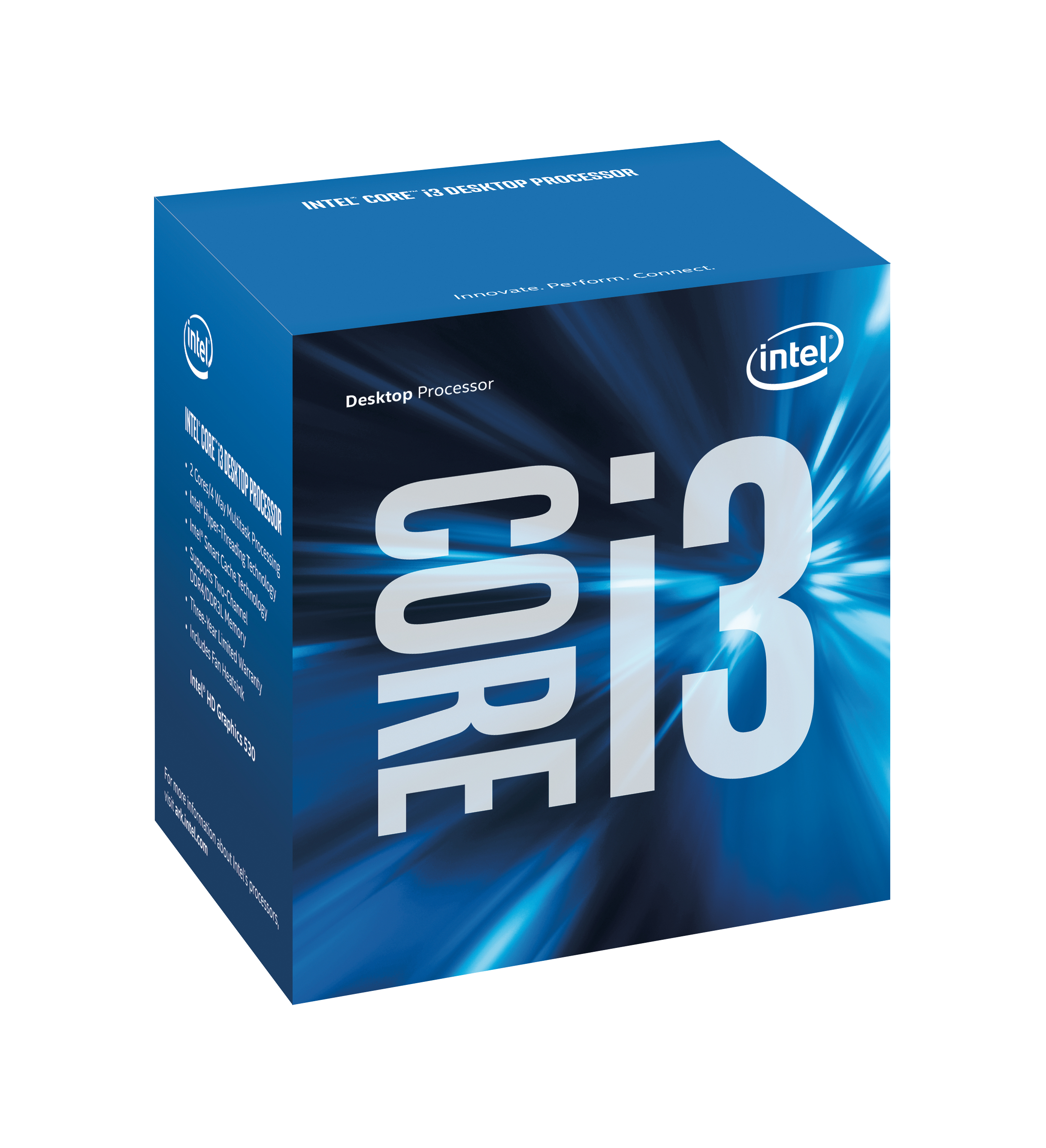 Intel Core ® ™ i3-6300 Processor (4M Cache, 3.80 GHz) 3.8GHz 4MB Smart Cache Box processor