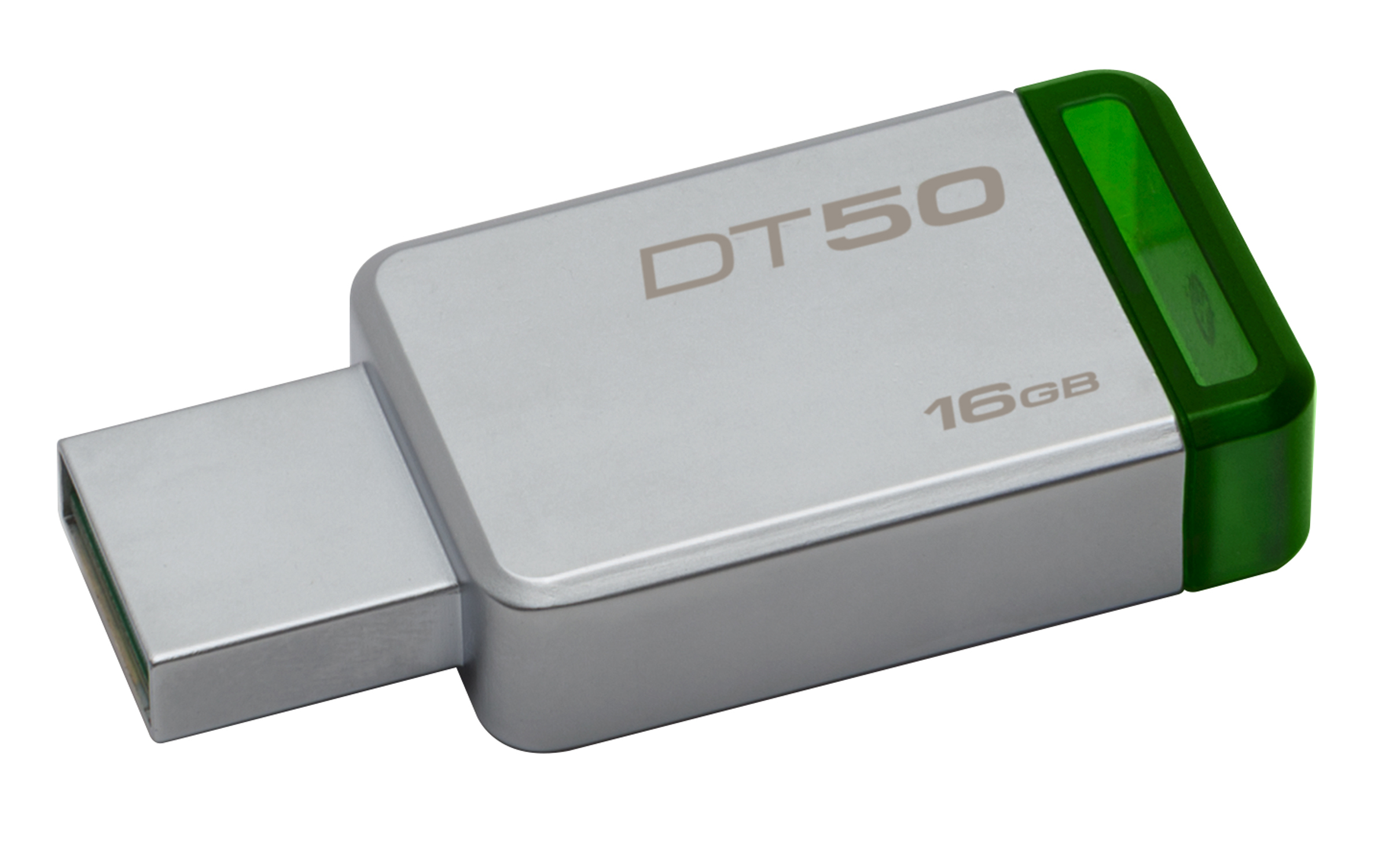 Kingston Technology DataTraveler 50 16GB USB flash drive 3.0 (3.1 Gen 1) USB-Type-A-aansluiting Groen, Zilver