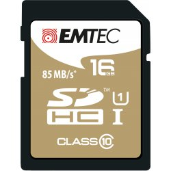 Emtec SDHC 16GB Class10 Gold + 16GB SDHC Klasse 10 flashgeheugen