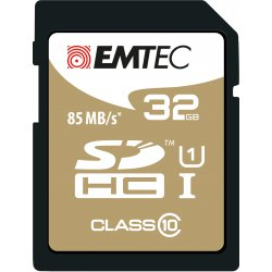 Emtec 32GB Class10 Gold + 32GB SDHC Klasse 10 flashgeheugen