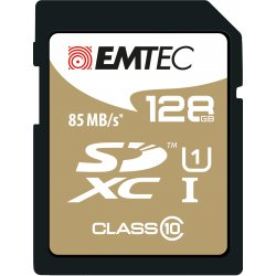 Emtec SDXC 128GB Class10 Gold + 128GB SDXC Klasse 10 flashgeheugen
